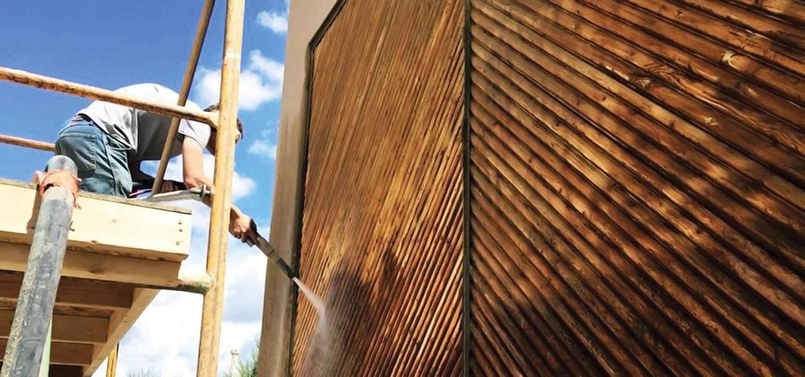 dustless blasting wood panels