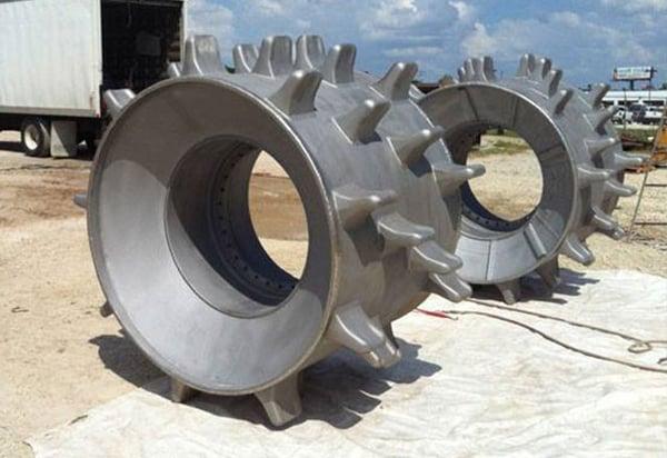 heavy equipment wheels restored