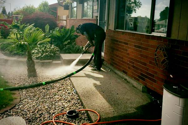dustless blasting near plants