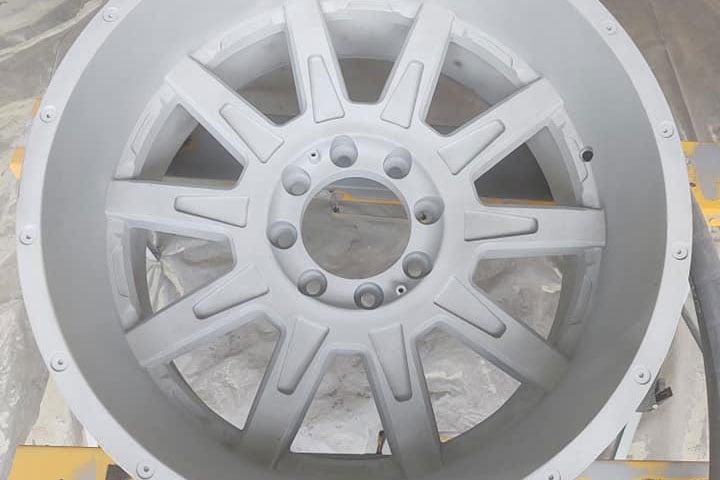 sandblasted wheel