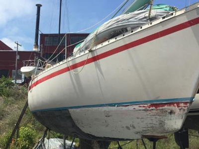 Antifouling Paint Half Removed