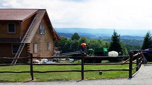 Log Home Blasting
