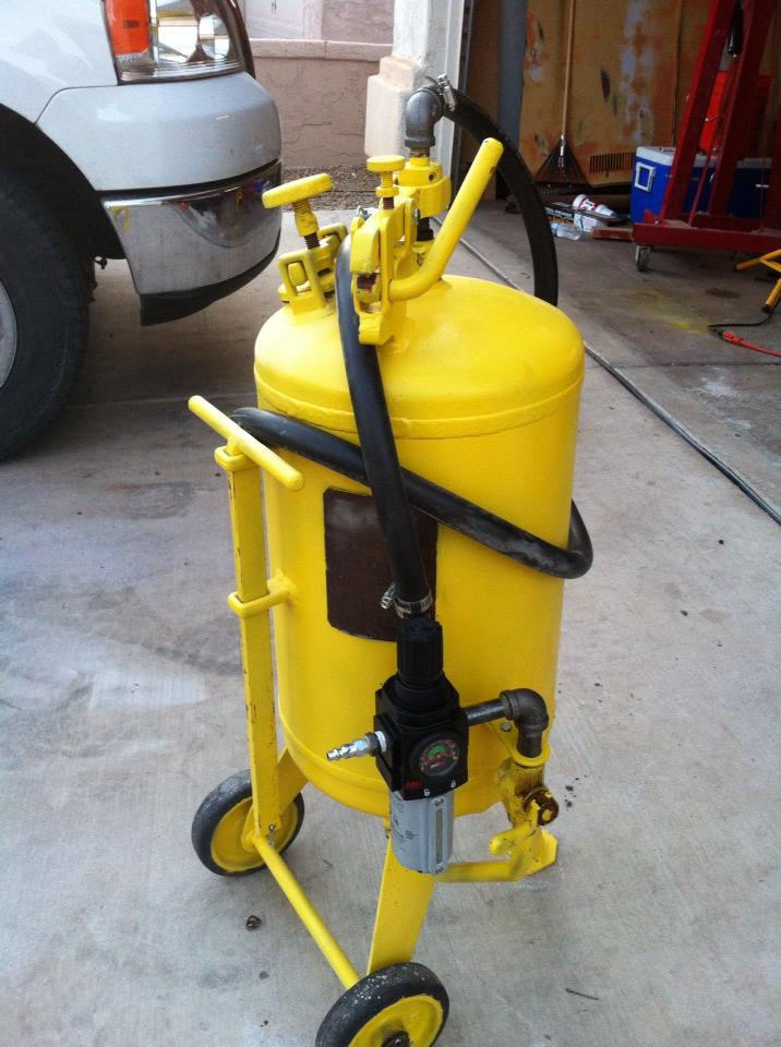 This 56 year old sandblasting equipment still works great after a simple revamp!