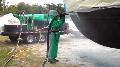 Antifouling Paint Removal by Waves to Wheels Dustless Blasting