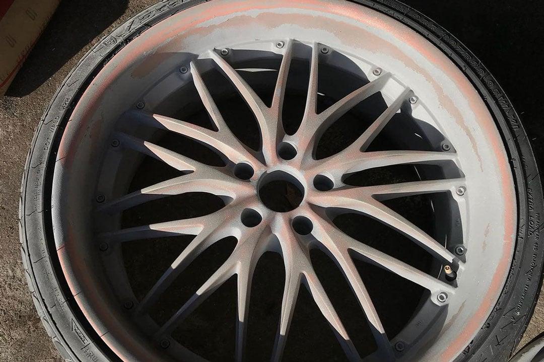 BMW rims sandblasted and restored