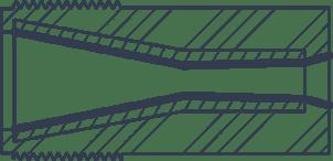 cross section diagram of a short venturi blast nozzle
