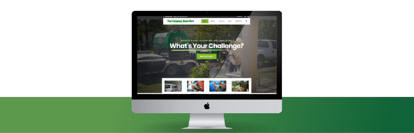 website for a mobile sandblasting business