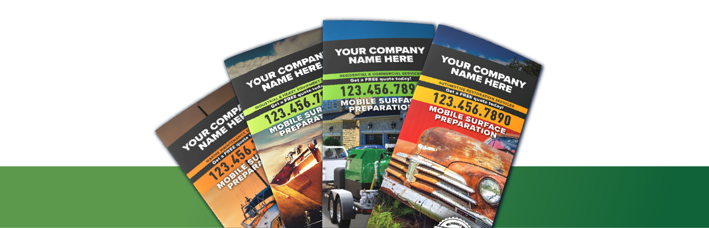 trifold brochures for a dustless blasting business