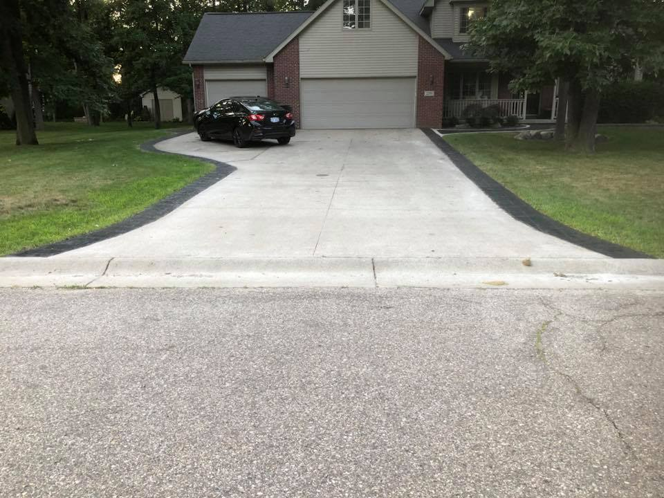 driveway with all paint and sealer removed