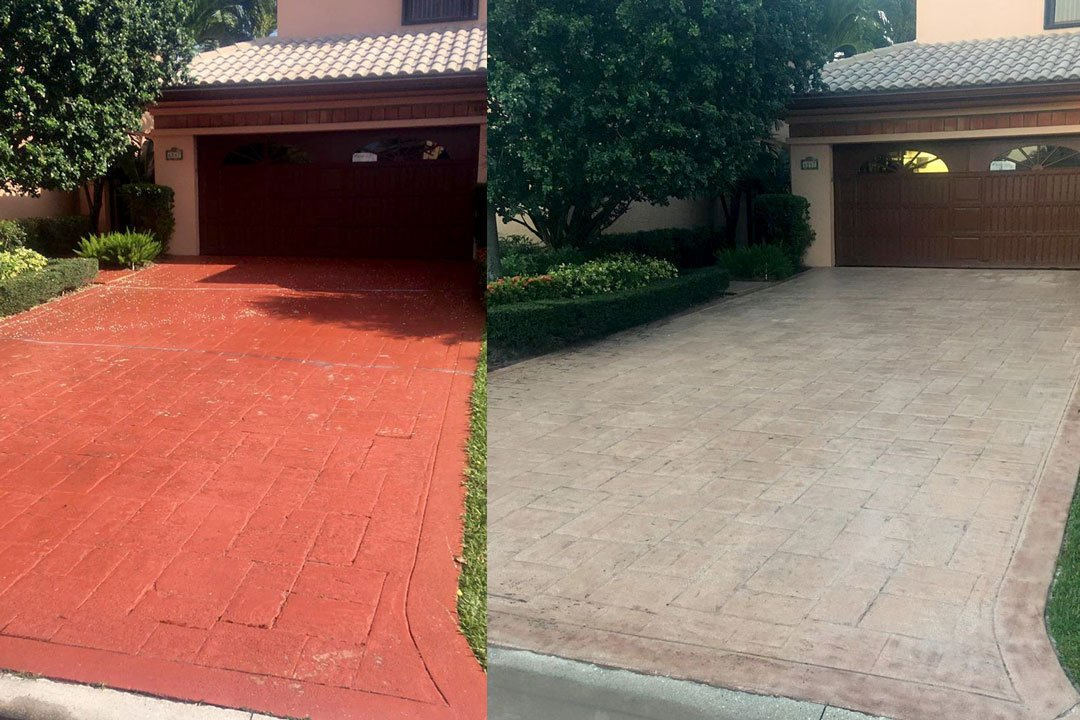 red paint removal from driveway