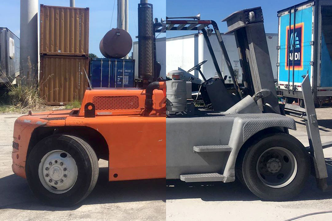 forklift paint removal