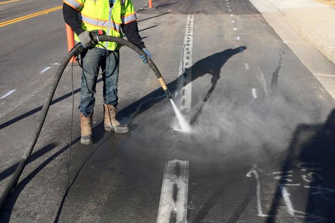 line stripe removal from asphalt