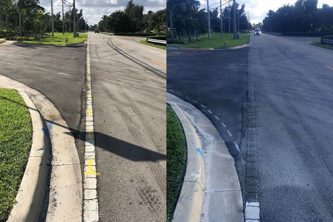 lien stripe removal from asphalt