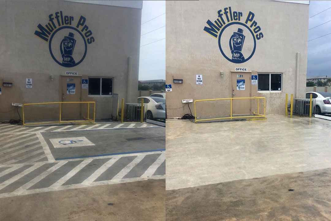 handicap parking markings removed