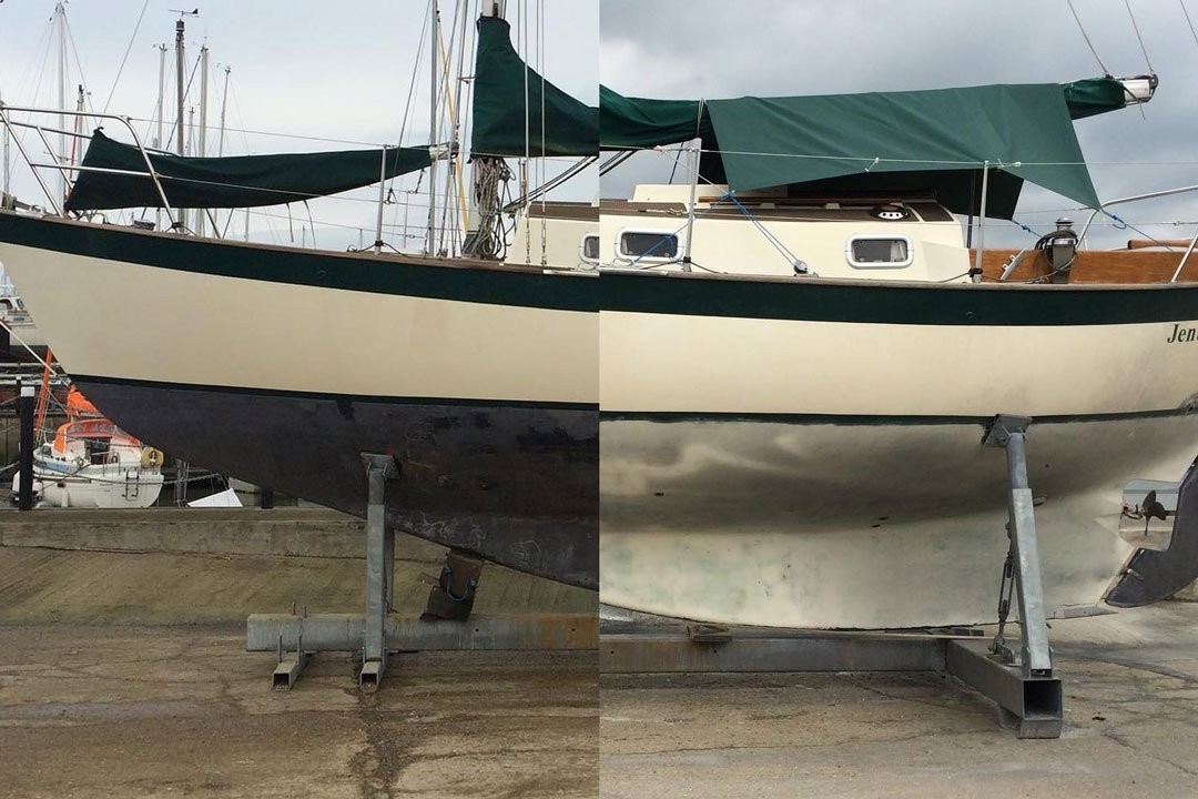 marine bottom paint removal