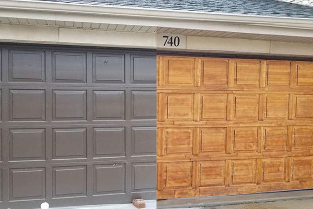 wooden garage door restoration