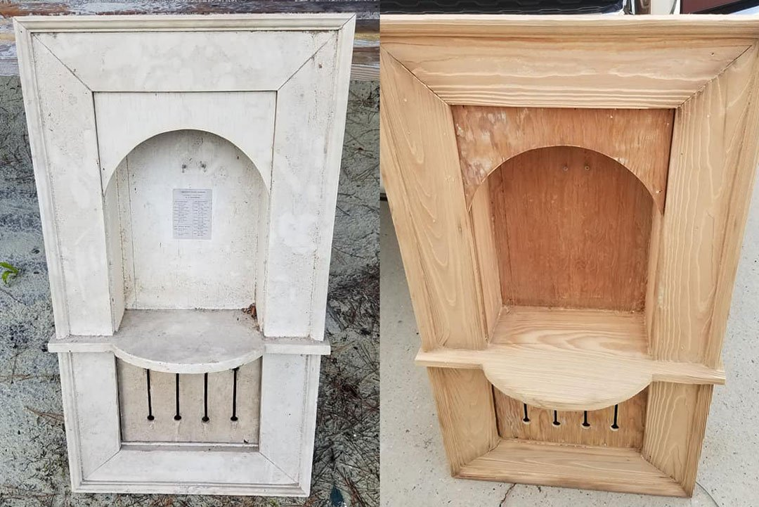 antique telephone booth restored