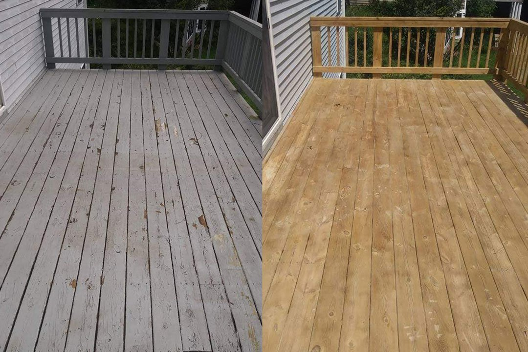 wooden deck restoration