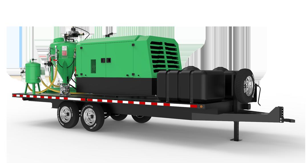 DB1500 Mobile XXL blast unit on trailer