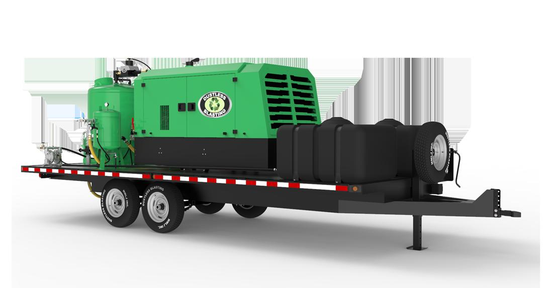 DB3000 Mobile XXL blast unit on trailer