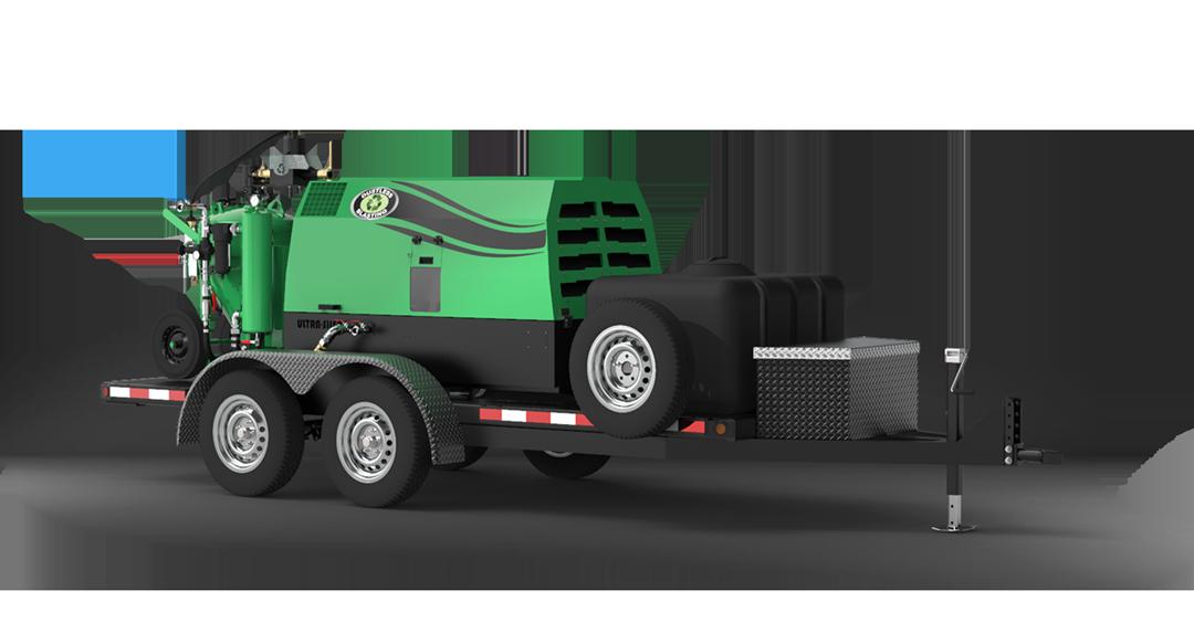 DB500 Mobile S blaster on trailer