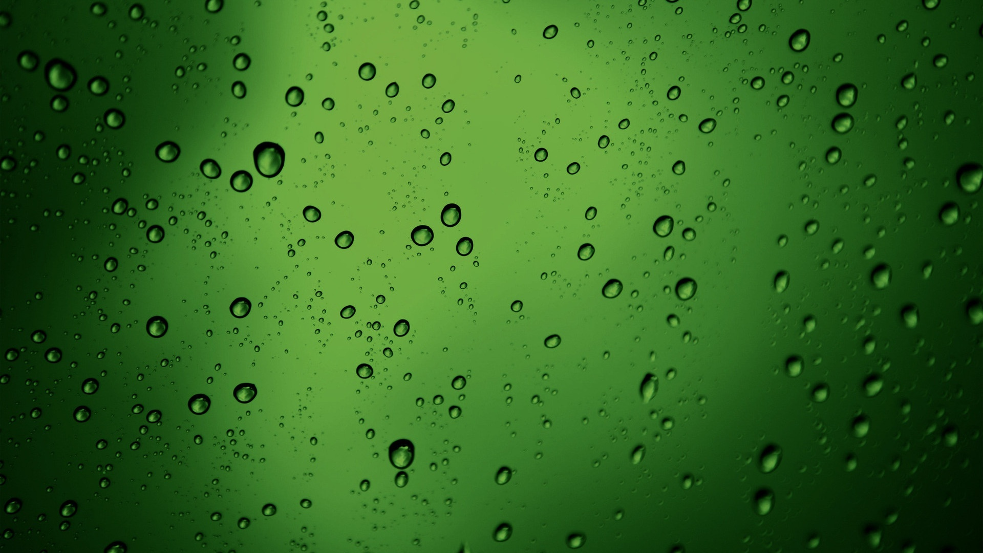 green raindrops background