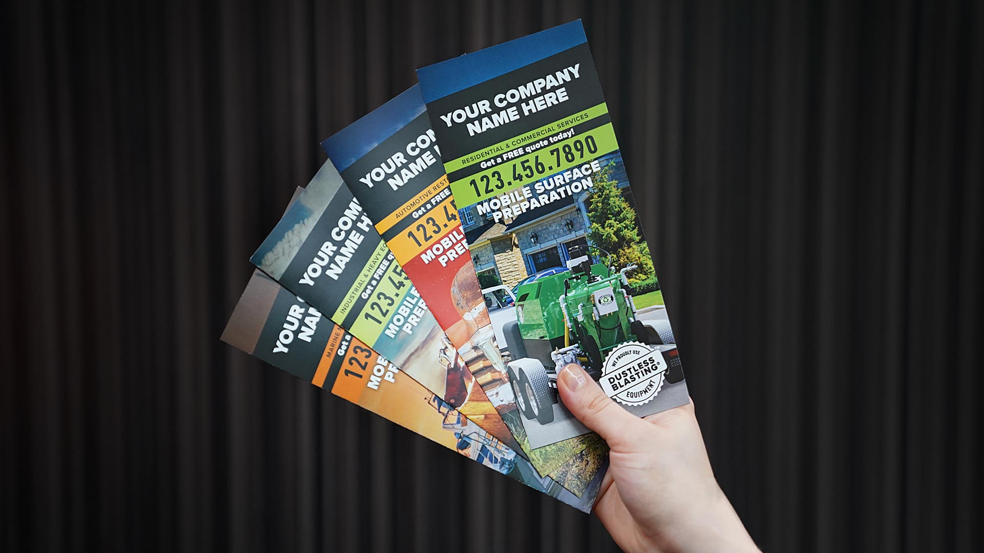 Brochures for dustless blasting services