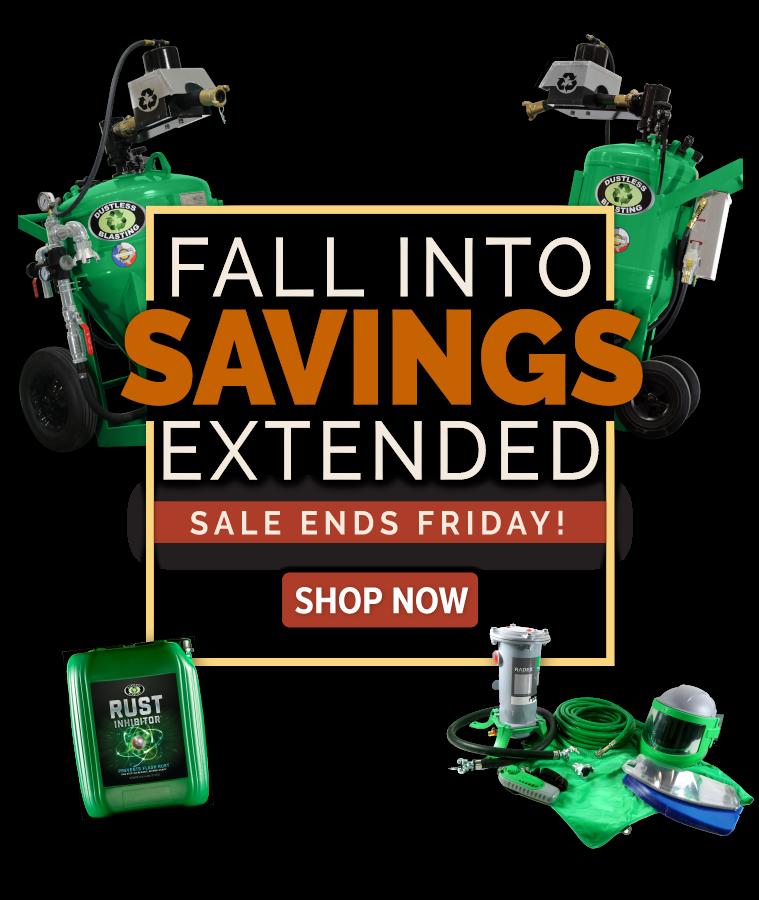fall sale on dustless blasting