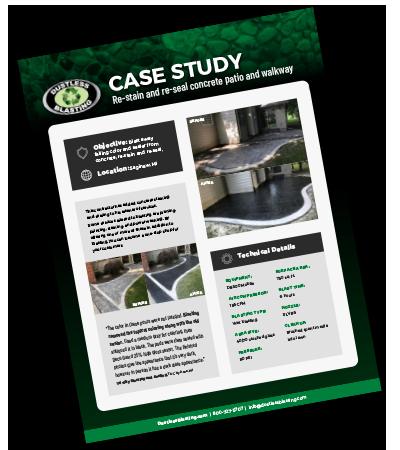 sandblast and stain concrete case study