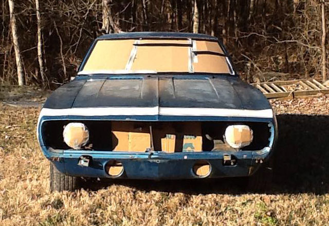 muscle car stripped before