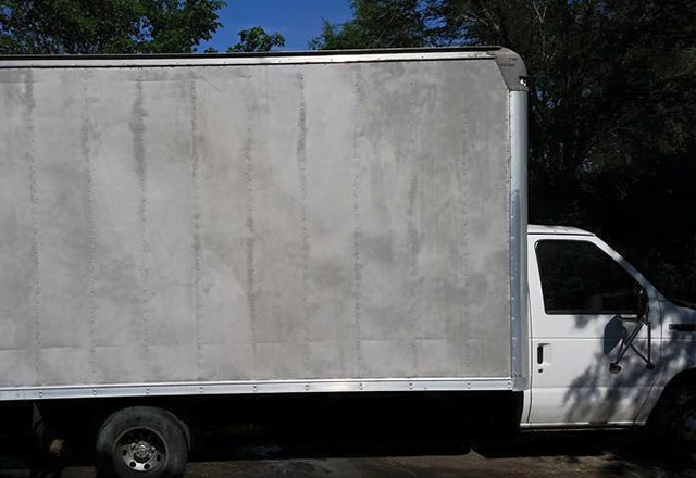 moving van with graphics after