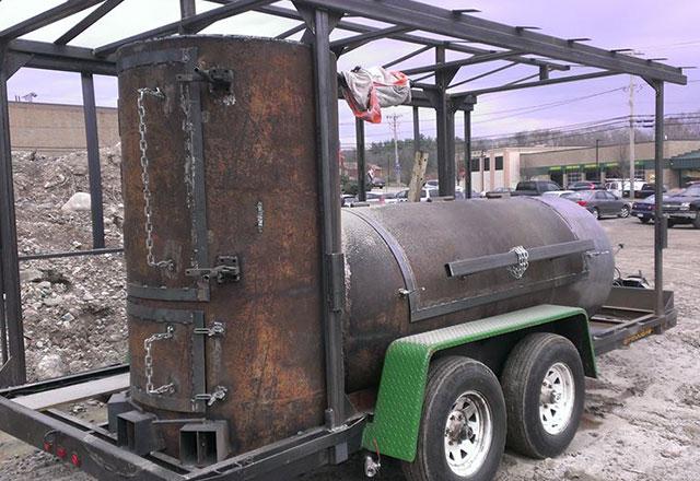trailer powder coat stripping