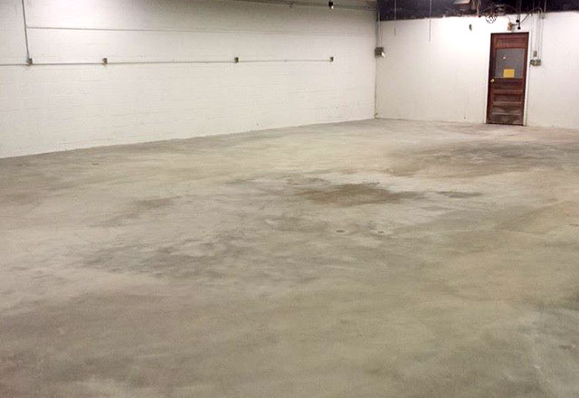 concrete floor cleaning after