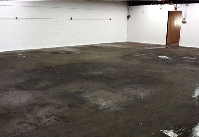 concrete floor cleaning before