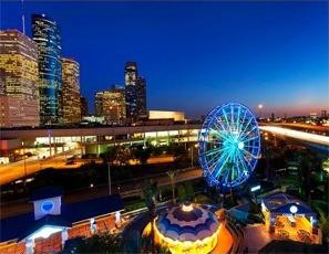 Downtown Houston Aquarium at Dusk