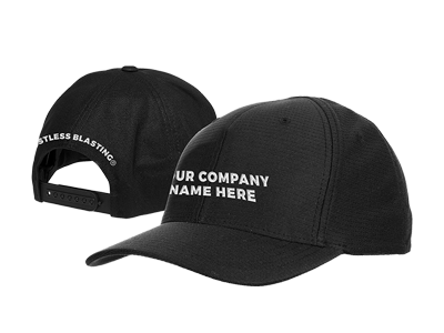 black embroidered hats
