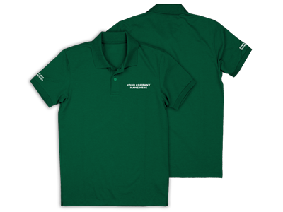 green embroidered polo shirt