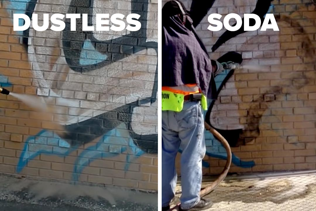 dustless vs soda blasting