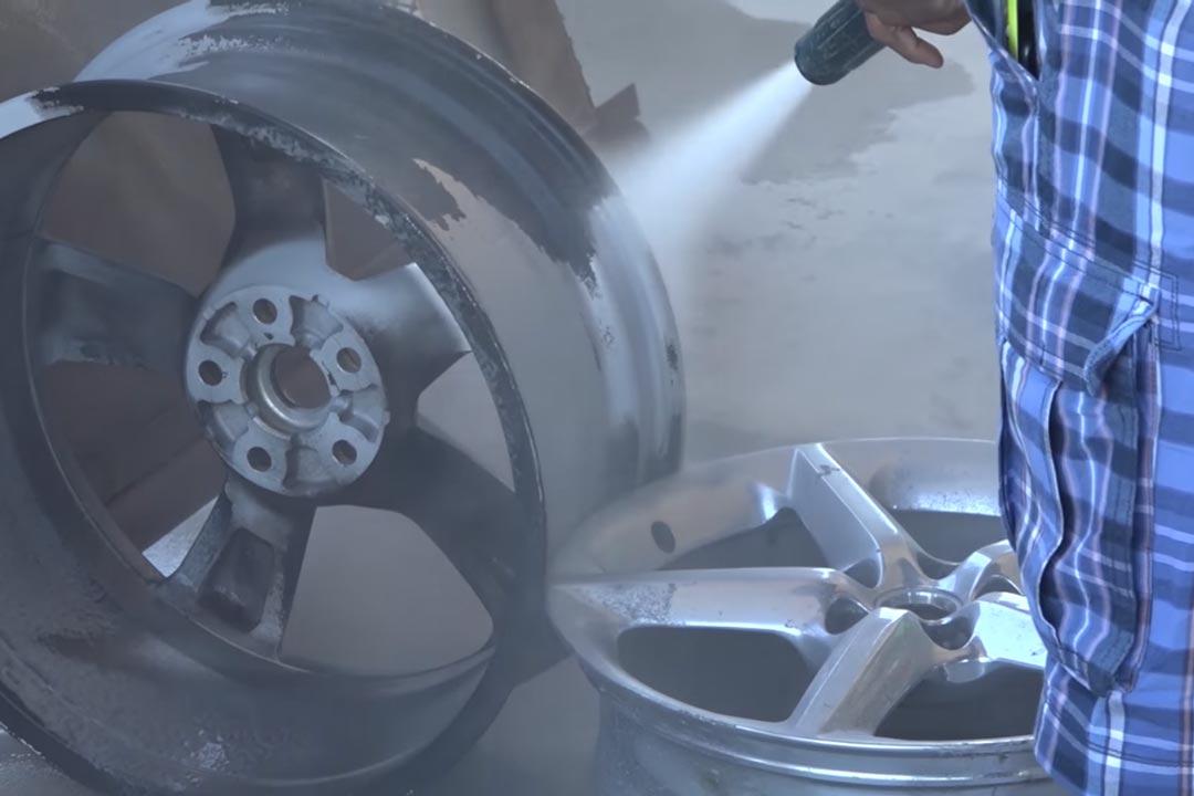 wet abrasive blasting wheels