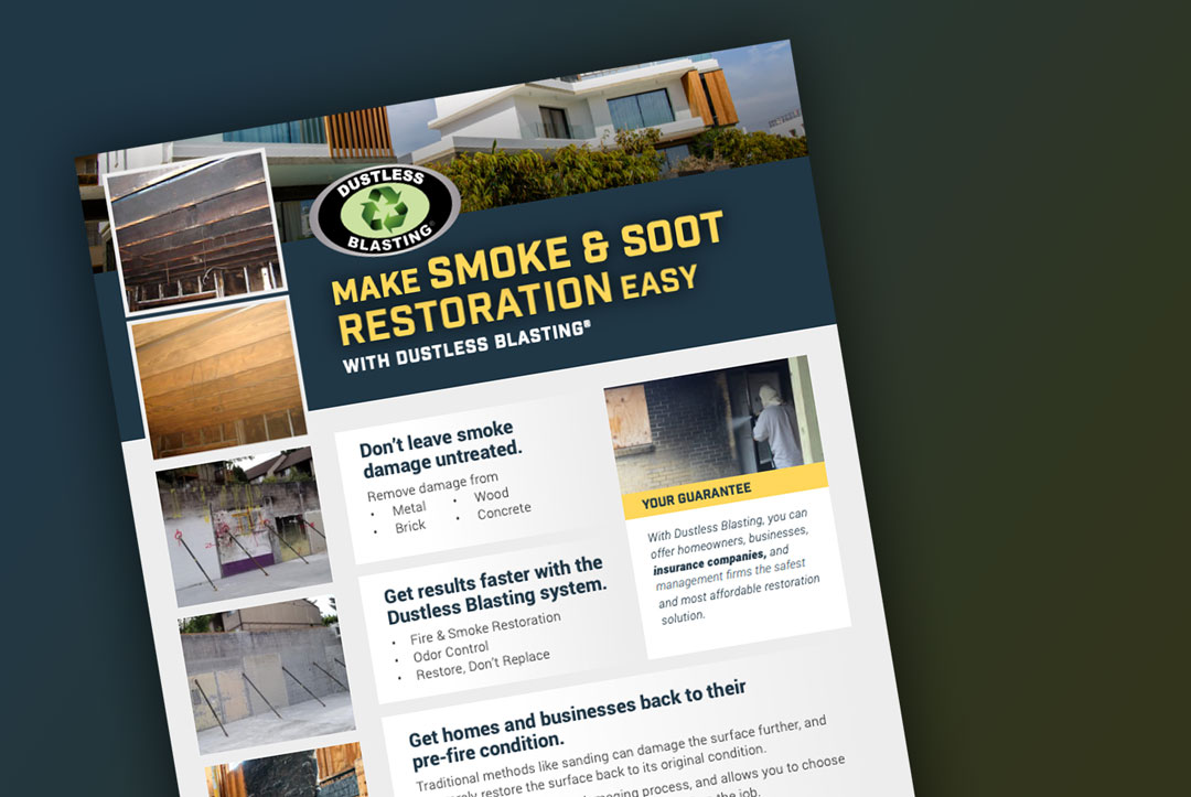 smoke and soot restoration flyer